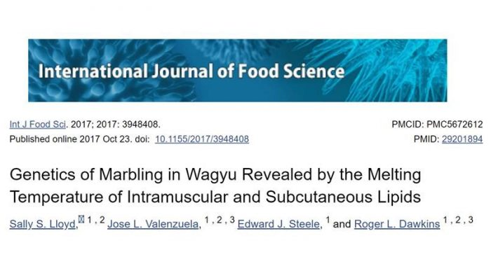 Genetics Of Marbling In Wagyu Revealed By The Melting Temperature Of Intramuscular And Subcutaneous Lipids
